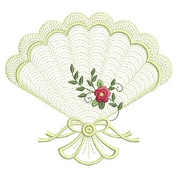 Flower Fans embroidery design
