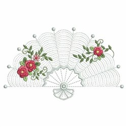 Roses Fan embroidery design