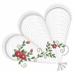 Ripple Rose Fan embroidery design