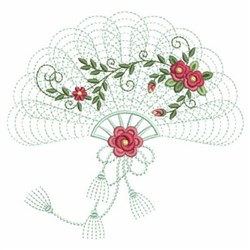 Fan Roses embroidery design