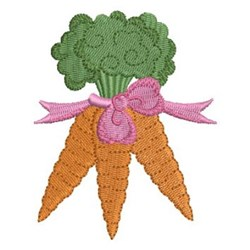 Carrot Bunch embroidery design