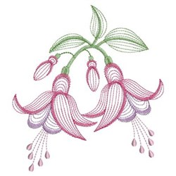 Bleeding Hearts embroidery design