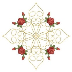 Red Roses Quilt embroidery design