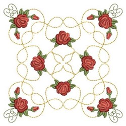 Quilting Roses embroidery design