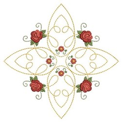 Red Roses Quilting embroidery design