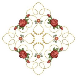 Diamond Roses Quilt embroidery design