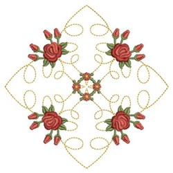 Roses Quilt Diamond embroidery design