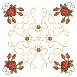 Quilting Red Roses embroidery design