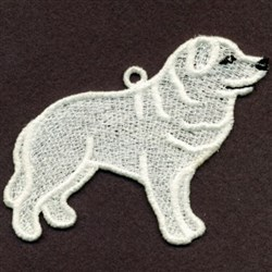 Great Pyrenese Ornament embroidery design