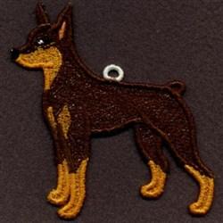 Doberman Ornament embroidery design