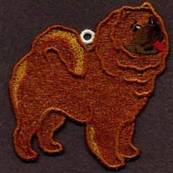 Chow Chow Ornament embroidery design