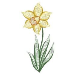 Daffodils embroidery design