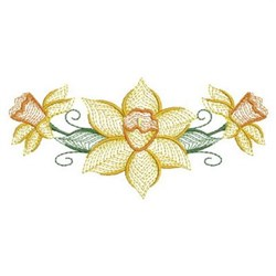 Daffodil Flowers embroidery design