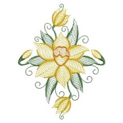 Daffodil Blooms embroidery design