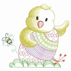 Chick & Egg embroidery design