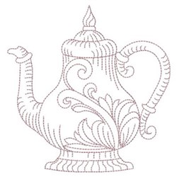 Vintage Tea Pot embroidery design
