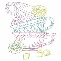 Vintage Tea Cups embroidery design