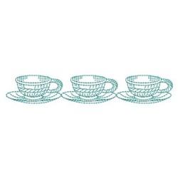 Tea Cups embroidery design