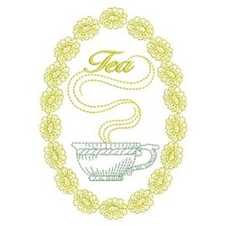 Vintage Tea embroidery design