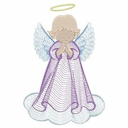 Rippled Little Angel embroidery design