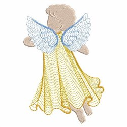 Rippled Angel Back embroidery design