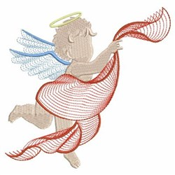 Rippled Little Angels embroidery design