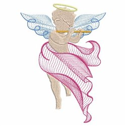 Flute Angel embroidery design