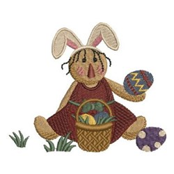 Country Bunny embroidery design