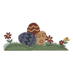Country Easter Eggs embroidery design