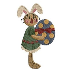 Country Rabbit embroidery design