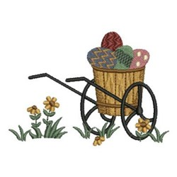 Country Egg Basket embroidery design