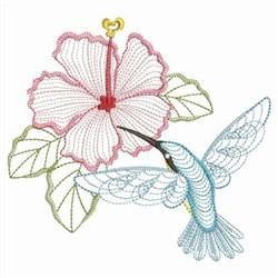 Hibiscus Hummingbird embroidery design