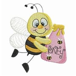 Honeybee embroidery design