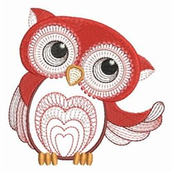 Red Owl embroidery design