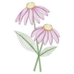 Vintage Daisy embroidery design
