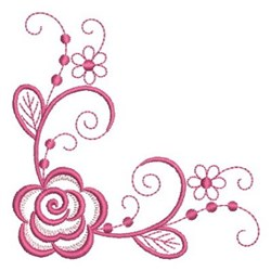 Roses Corner embroidery design