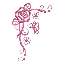 Simply Pink Roses embroidery design