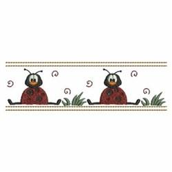 Ladybug Border embroidery design