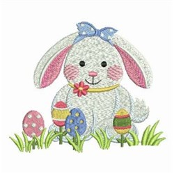 Easter Bunny Cutie embroidery design