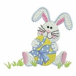 Bunny & Egg embroidery design