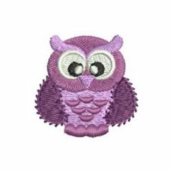 Purple  Owl embroidery design