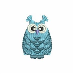 Teal Owl embroidery design