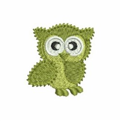 Green Owl embroidery design