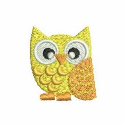 Yellow Owl embroidery design