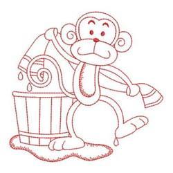 Bath Time Monkey embroidery design