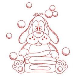 Bath Time Dog embroidery design