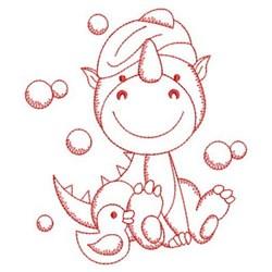 Bath Time Dino embroidery design