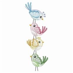 Happy Birds embroidery design