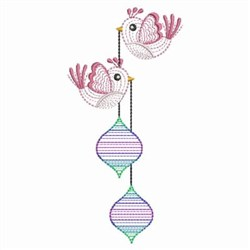 Holiday Birds embroidery design