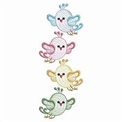 Four Birds embroidery design